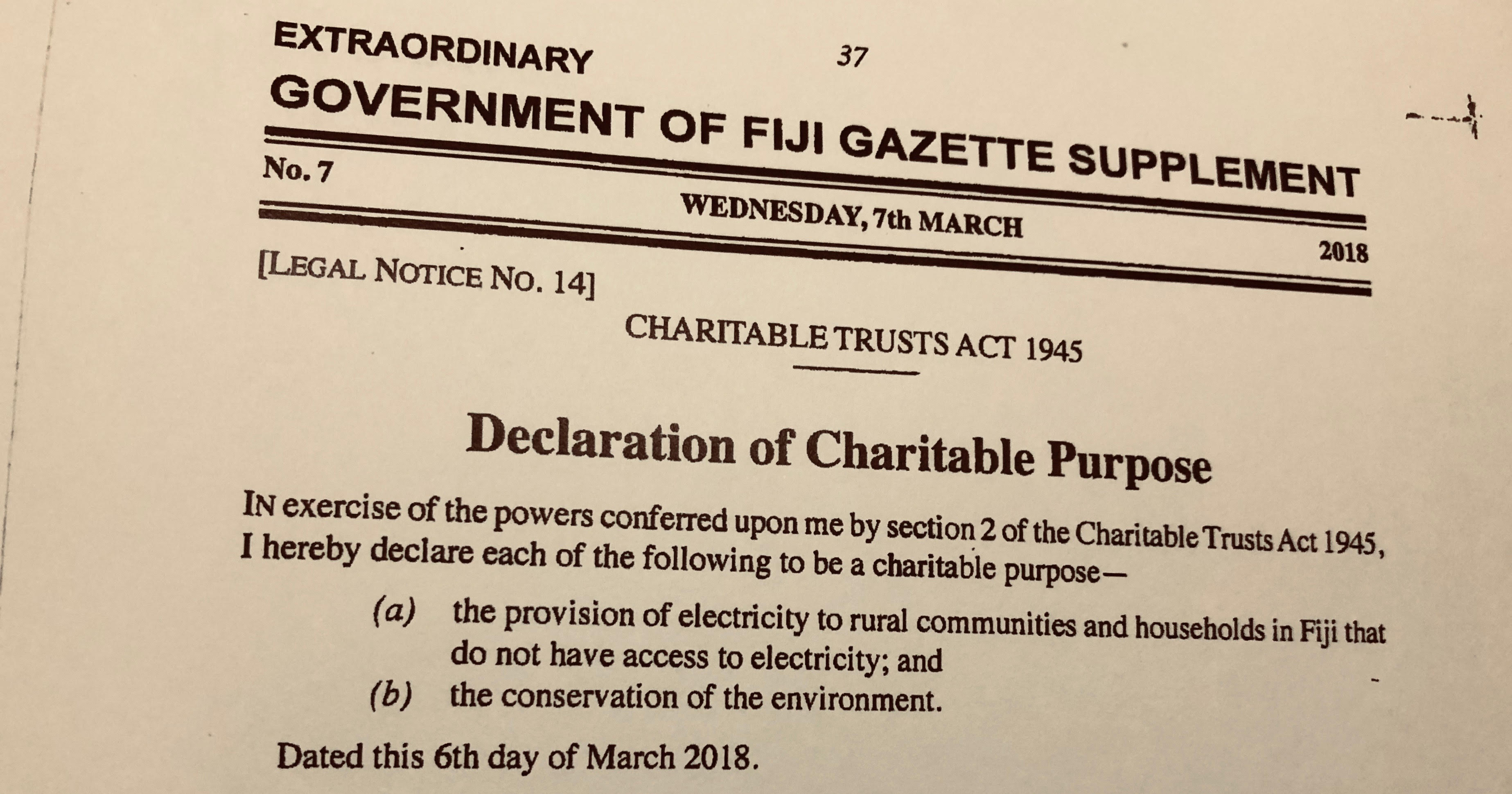 The Household Law Act in Fiji