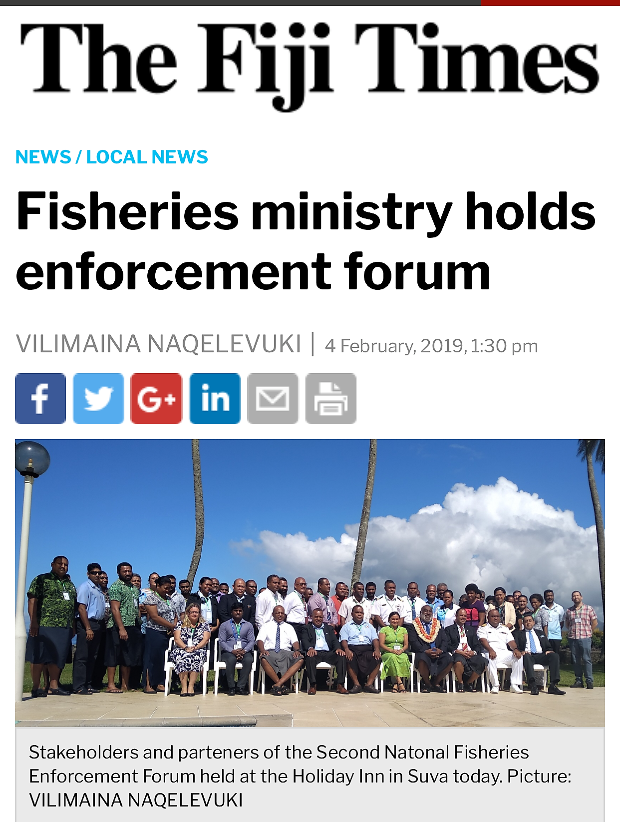 Fisheries enforcement forum