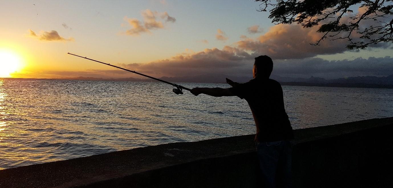 Man line fishing